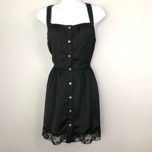 🦄 2 for $12 Honey Punch Black Slip Dress